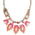 Annalise Pastel Stone Flower Necklace