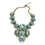 Glam Pastel Multi Stones Opal Crystal Necklace