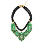 Emerald Green Art Deco Mosaic Necklace
