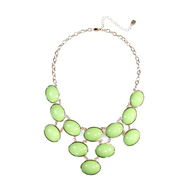 Green Bubble Cabochon Net Necklace