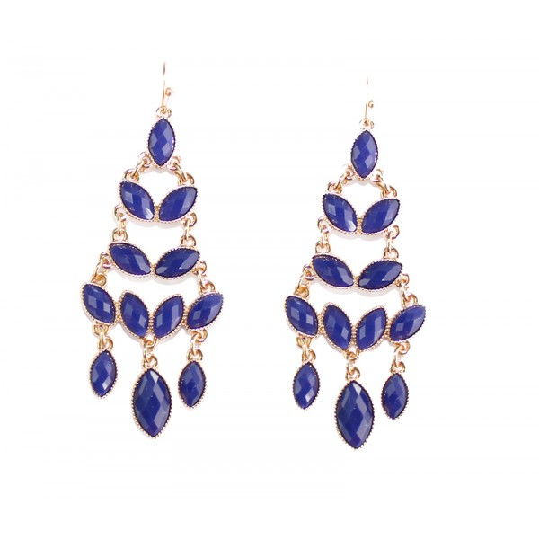 Ayaka Blue Faceted Laurel Cascade Earrings