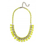 Neon Yellow Geo Stone Bauble Necklace