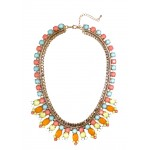 Tropic Pastel Candy Bauble Bib Necklace