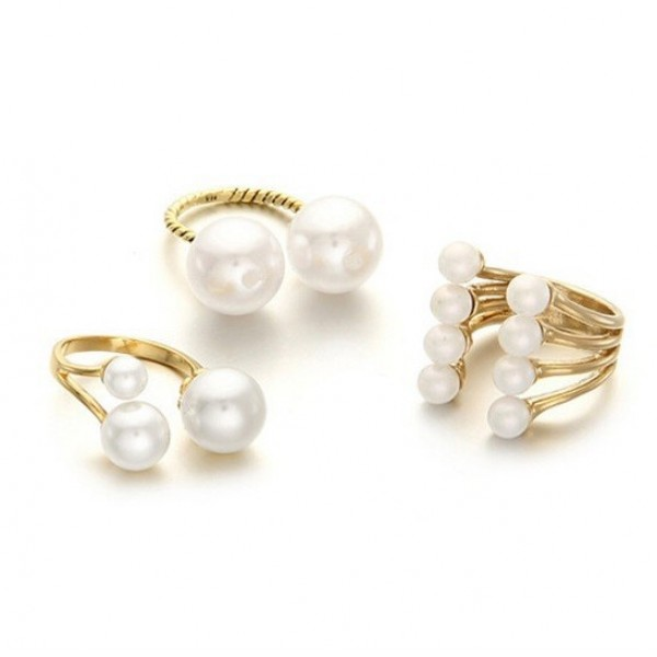 Purely Pearls Midi Knuckle Ring Set