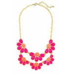 Fluer Pink Petals Bauble Necklace