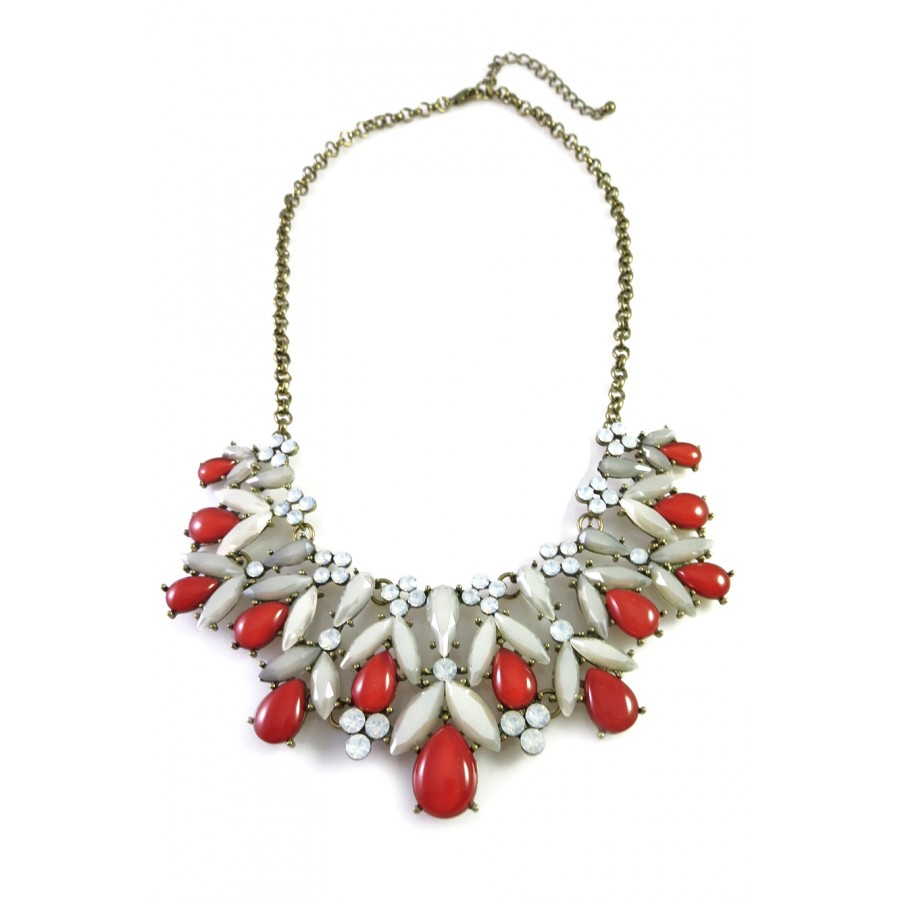 torsade bauble statement beads pin multistrand necklace twisted