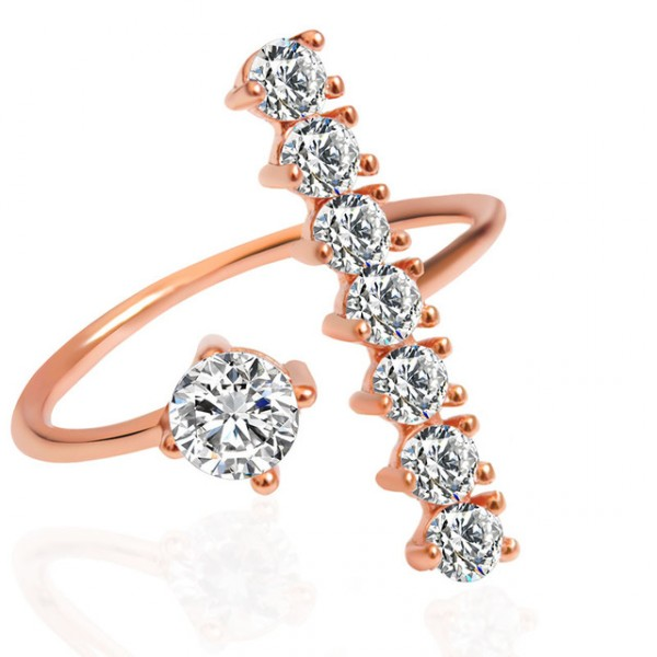 Oneway Pave Dainty Sparklers Stack Ring