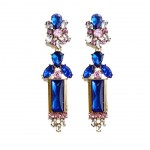 Ivanka Sapphire Art Deco Stone Dangle Earrings