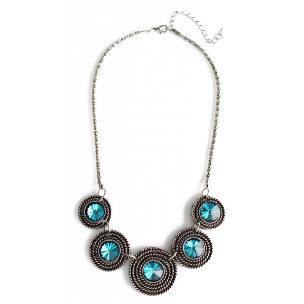 Garbo Sapphire Multi Circles Necklace