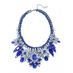 Apolonia Sapphire Marquise Cluster Necklace