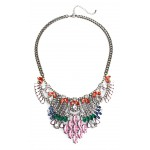 Tabitha Multicolored Art Deco Crystal Necklace