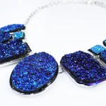Rainbow Titanium Druzy Geo Necklace