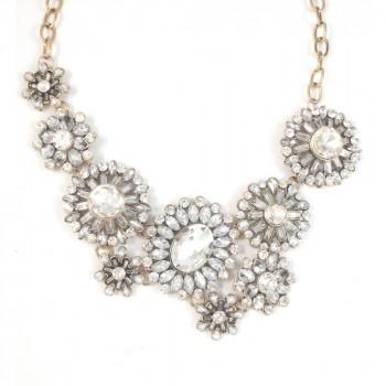 Ice Queen Crystal Sunburst Necklace