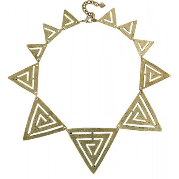 Geometric Cut-Out Aztec Collar Statement Necklace