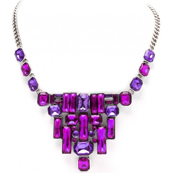 Amethyst Glam Royal Bib Necklace