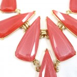 Red Opalline Geometric StarBurst Bib Necklace