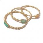 Turquoise Druzy Stone Irregular Golden Bracelet
