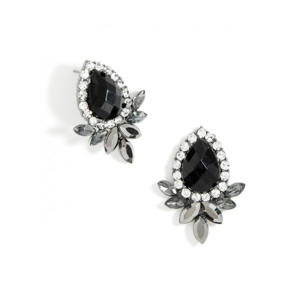 'Finella' Crystal Feather Statement Earrings