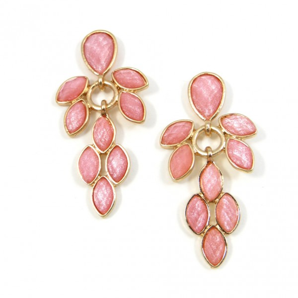 Seashell Pink Opal Stone Princesse Earrings