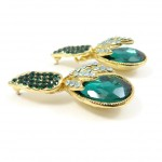 Emerald Iced Teardrop Earrings
