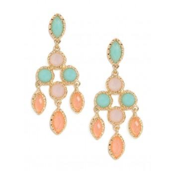 Pastel Candy Opal Stone Chandelier Earrings