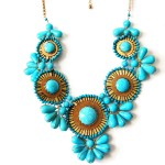 Turquoise Elsa Sunburst Statement Necklace
