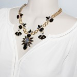 Icarus Smoky Flower Stone Edgy Statement Necklace