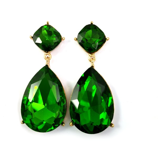 Angelina Emerald Teardrop Earrings