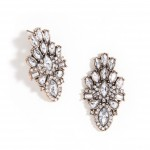 Starburst Glam Crystal Cluster Statement Stud Earrings