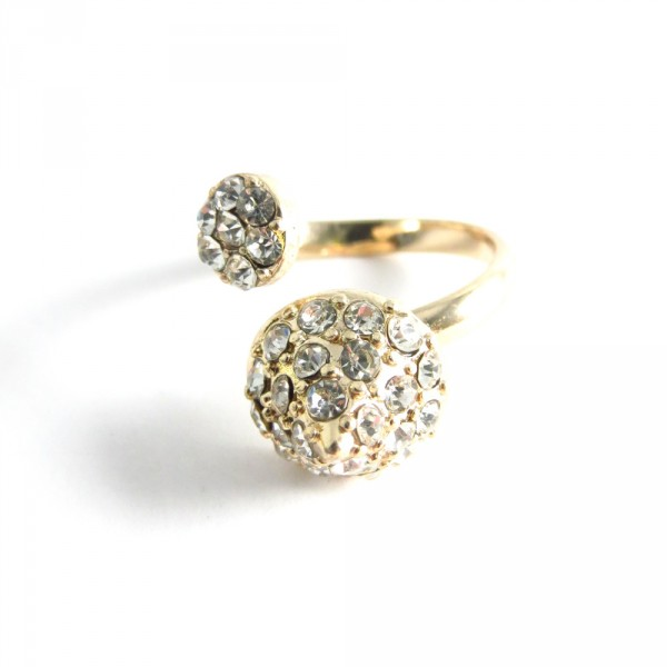 Rhinestone Wrap Gold  Ring
