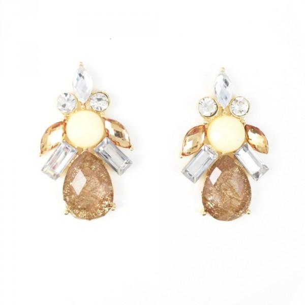 All That Glitters Nude Gems Earrings
