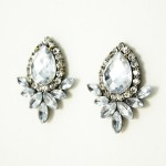 Caspian Crystal Wing Stud Earrings