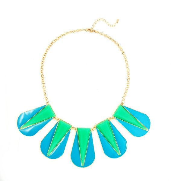 Bali Colorblock Geometric Five Station Necklace