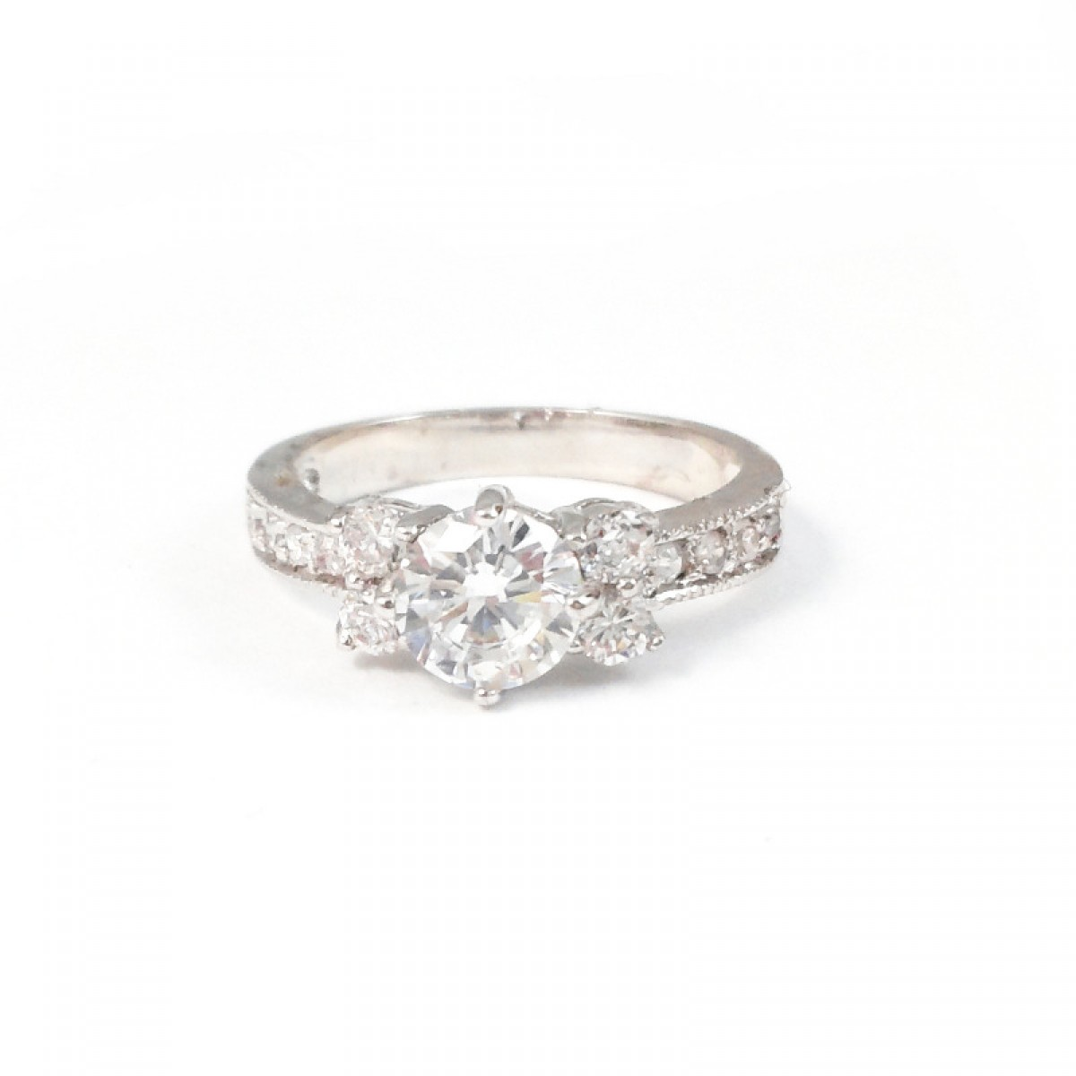 beaufort cluster cubic zirconia engagement wedding