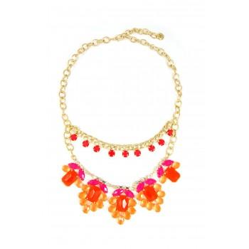 'Spring Awakening' Neon Stone Floral Necklace