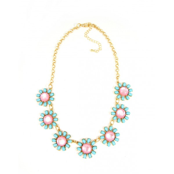 Hermia Pastel Daisies Necklace Set