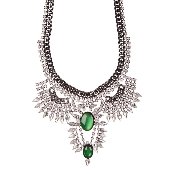 Moschata Spiked Crystal Statement Necklace