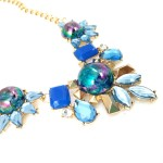 Cleopatra Holographic Blue Marquise Necklace