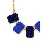 Cobalt Geo Druzy Statement Necklace