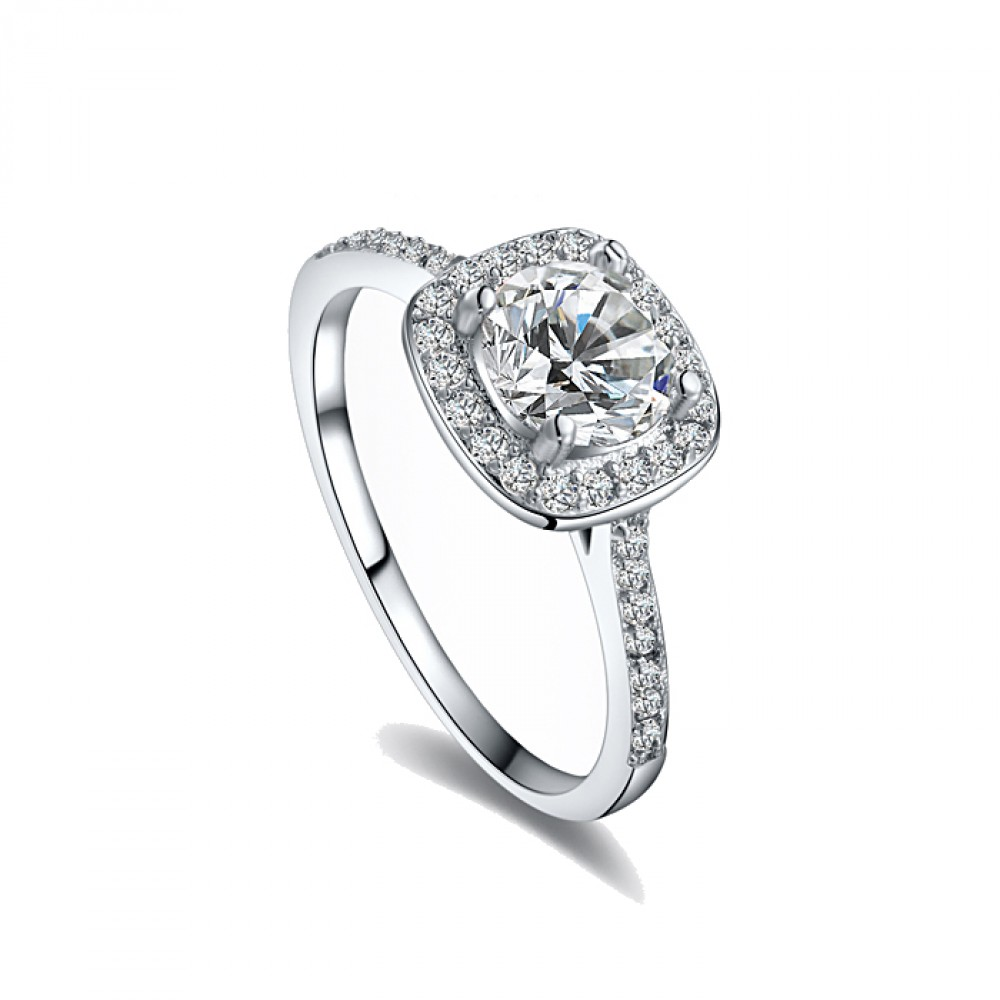 isabelle encrusted swiss zircon 18k white gold plated ring