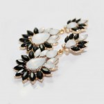 Durga Black Ivory Stone Burst Statement Stud Earrings