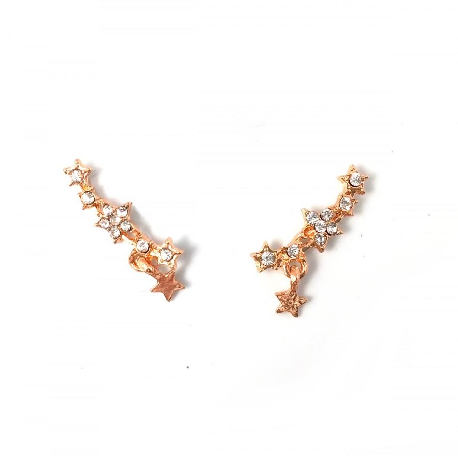 Crystal Gold Arc Ear Crawlers