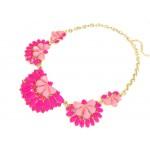 Leonie Neon Pink Half Flower Statement Necklace