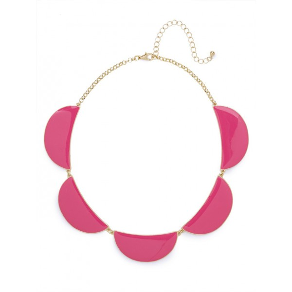 Aronia Neon Crescent Necklace