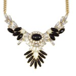 Icarus Onyx Wing Crystal Necklace