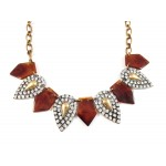 Crystal Stone Pave Laurel Tortoise Necklace