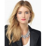 Rhinestone Drama Ice Crystal Spike Collar Statement Necklace