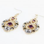 Ashta Amethyst Smoky Earrings