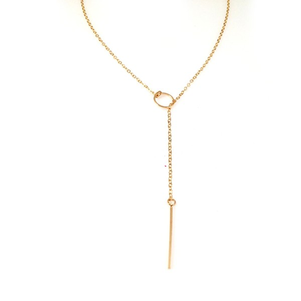 Cece Lariat Open Circle 18k Necklace