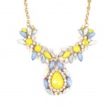 'Maisie' Pastels and Opal Flowers Statement Necklace